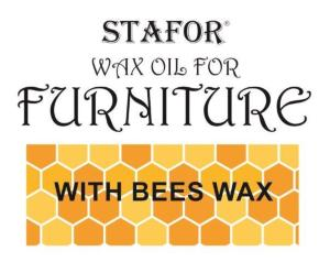 Wax oil for furniture with natural bees wax