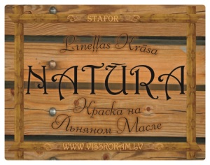 Linseed oil paint NATURA