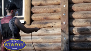 Отбеливание деревянного фасада