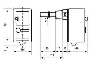 Размеры аварийного термостата