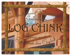 Grained sealant LOG CHINK for log beams