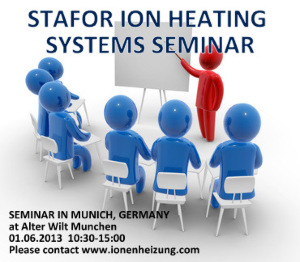We invite you to participate in seminar about ion heating systems in Germany
