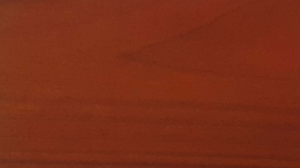 Painted with NATURA mahagony thermowood