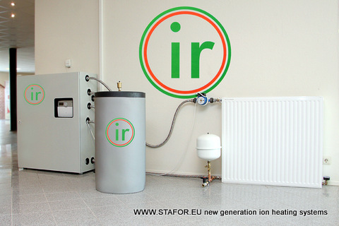 Our partner in Germany have developed new compact and universal heating system with heat exchanger and ion boiler STAFOR. System have high COP 1.57 - 2.04.