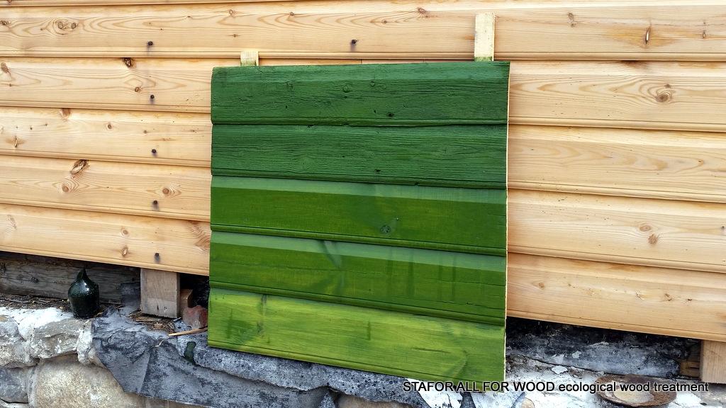 Lineļļas krāsa-beice NATURA zaļa