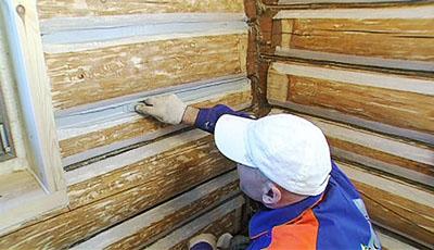 Sealant for log houses GULBUVE gray