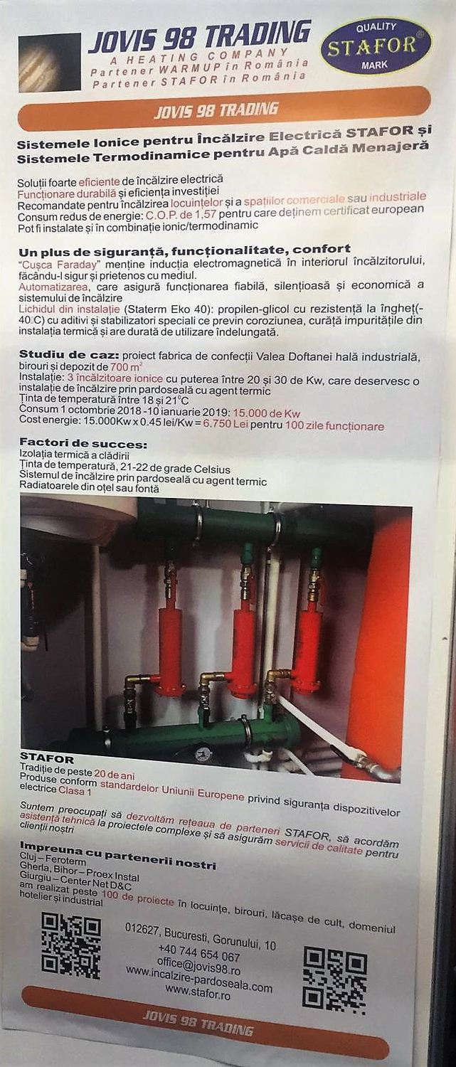 Ion heating systems STAFOR in ROMANIA