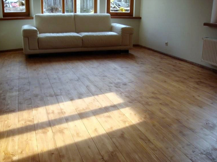 Natural oil for FLOORS applied on toned with linseed paint - stain NATURA brown floor