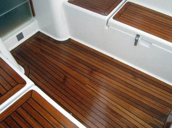 Natural oil for FLOORS applied on toned with linseed paint - stain NATURA walnut floor