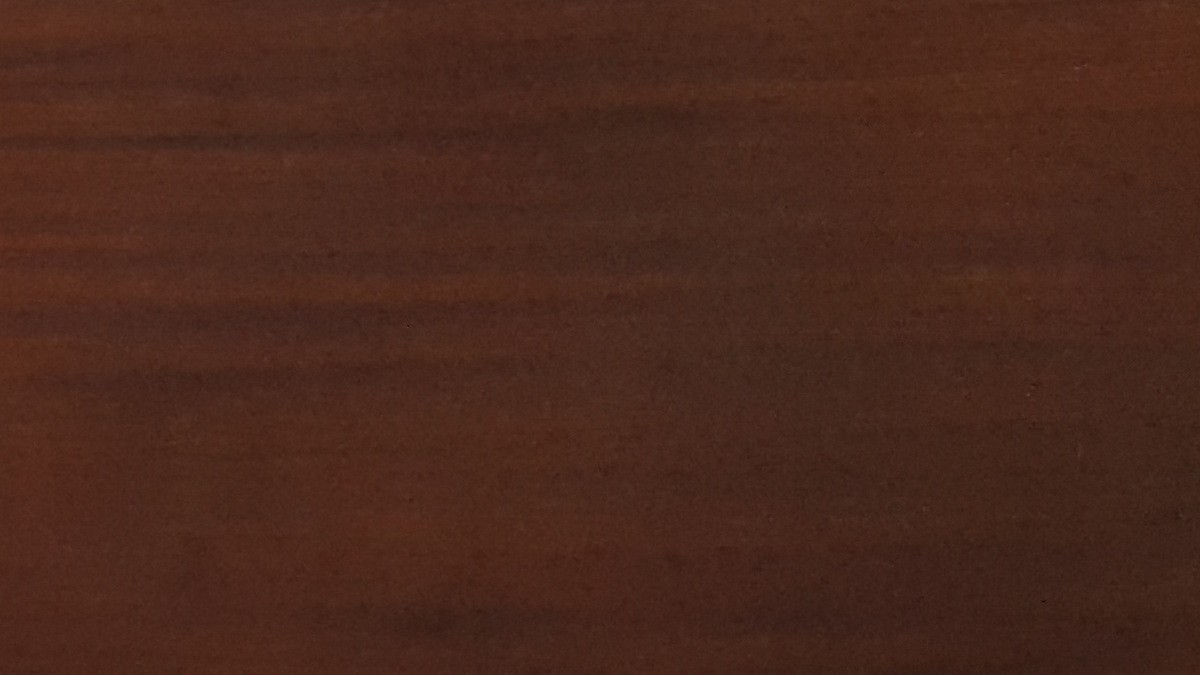 Painted in two layers with NATURA walnut thermowood