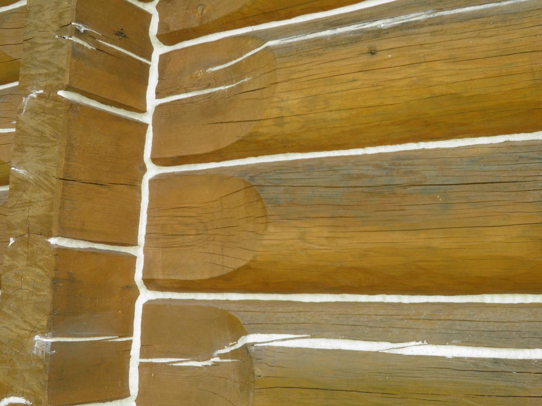 Зернистый герметик LOG CHINK для сруба белый