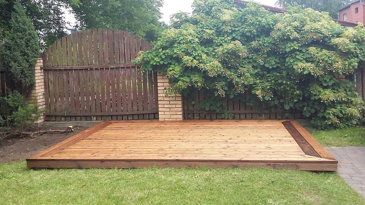 Terrasse apsauga su natūralus aliejus grindims