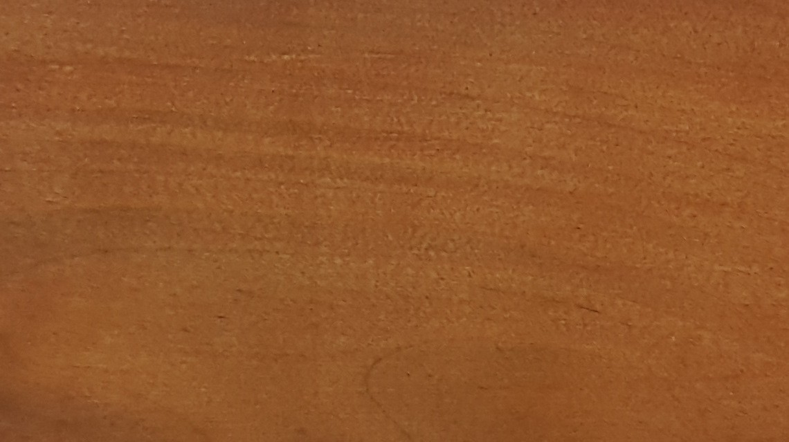 Bleached and painted with NATURA brown thermowood