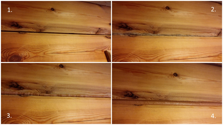 Зернистый герметик для сруба LOG CHINK коричневый