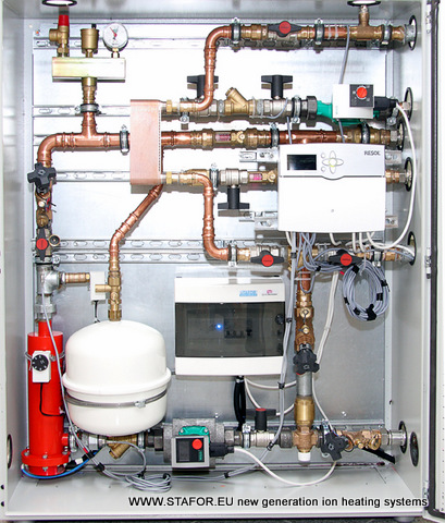 Наш партнер в Германии разработал компактную систему отопления с теплообменником и ионным котлом STAFOR с высоким COP (КПЭ) 1,57 до 2,04.